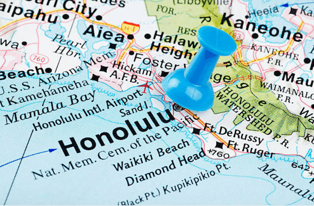 honolulu map