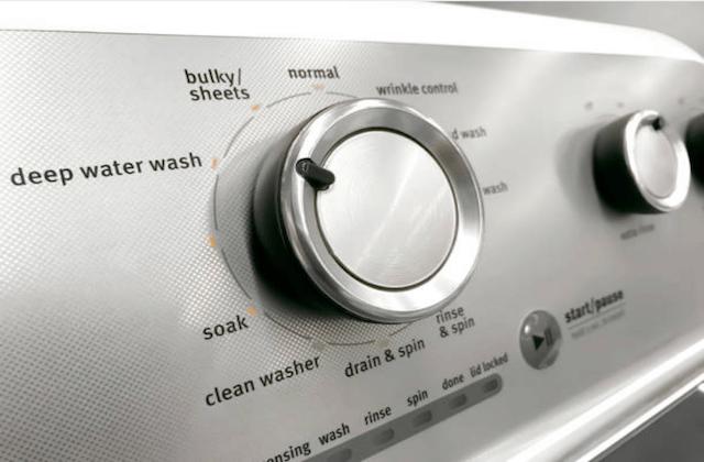 modern washer dryer controls